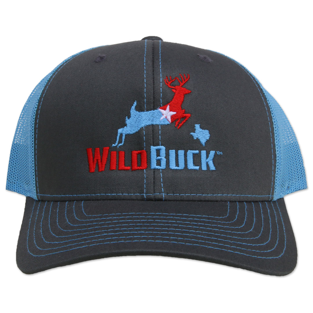 WildBuck Texas RWB Charcoal/Bluebonnet Front