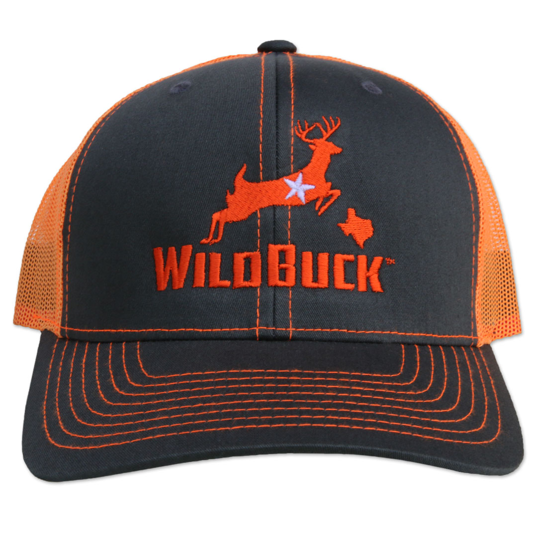 WildBuck Texas Charcoal/Neon Orange Front