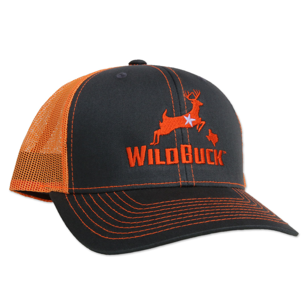 WildBuck Texas Charcoal/Neon Orange Side