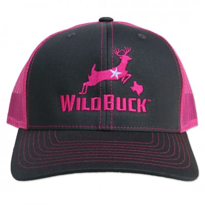 WildBuck Texas Charcoal/Neon Pink Front