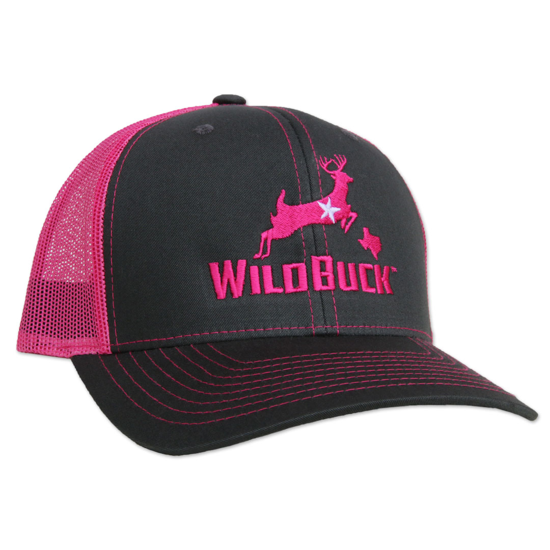 WildBuck™ Texas Charcoal Neon Pink Mesh Snapback - WildBuck™ 370f55f497a