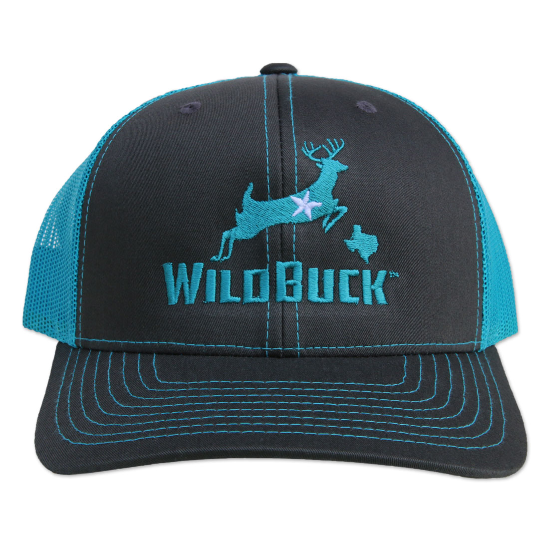 WildBuck Texas Charcoal/Turquoise Front
