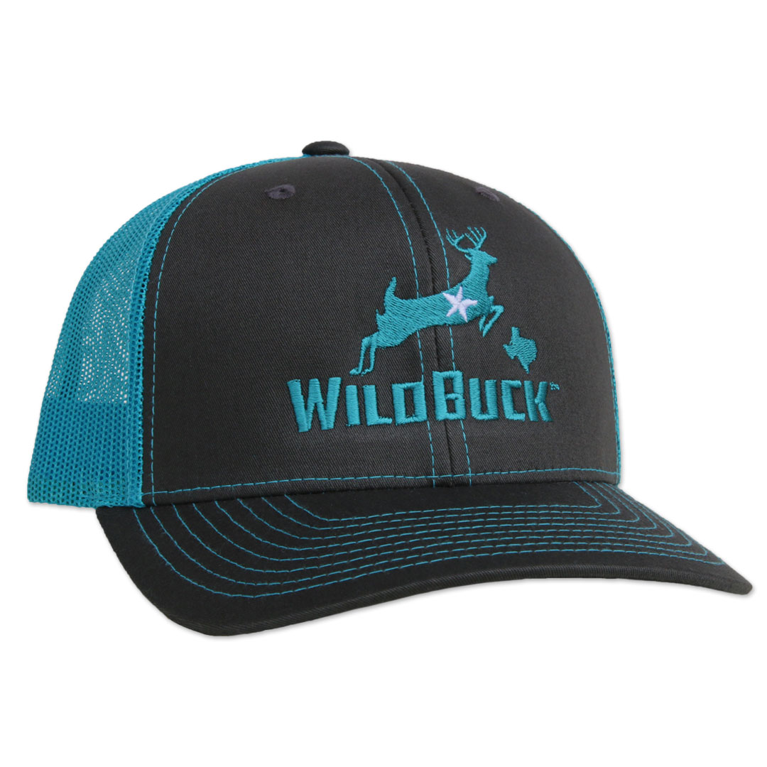 WildBuck Texas Charcoal/Turquoise Side