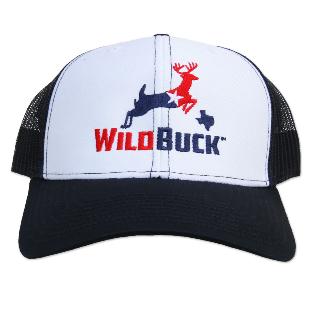 WildBuck Texas RWB White/Navy Front