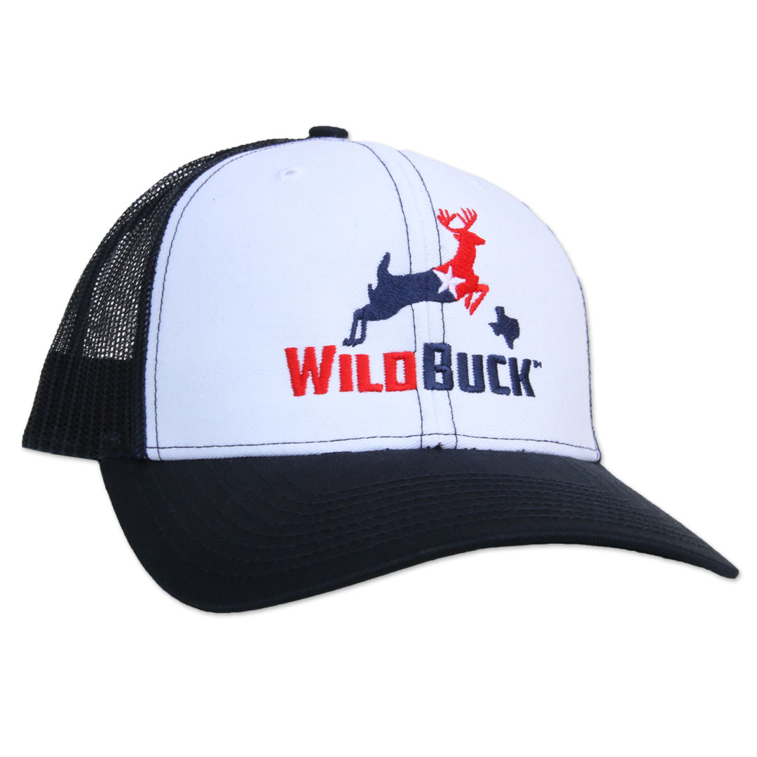 WildBuck Texas RWB White/Navy Side