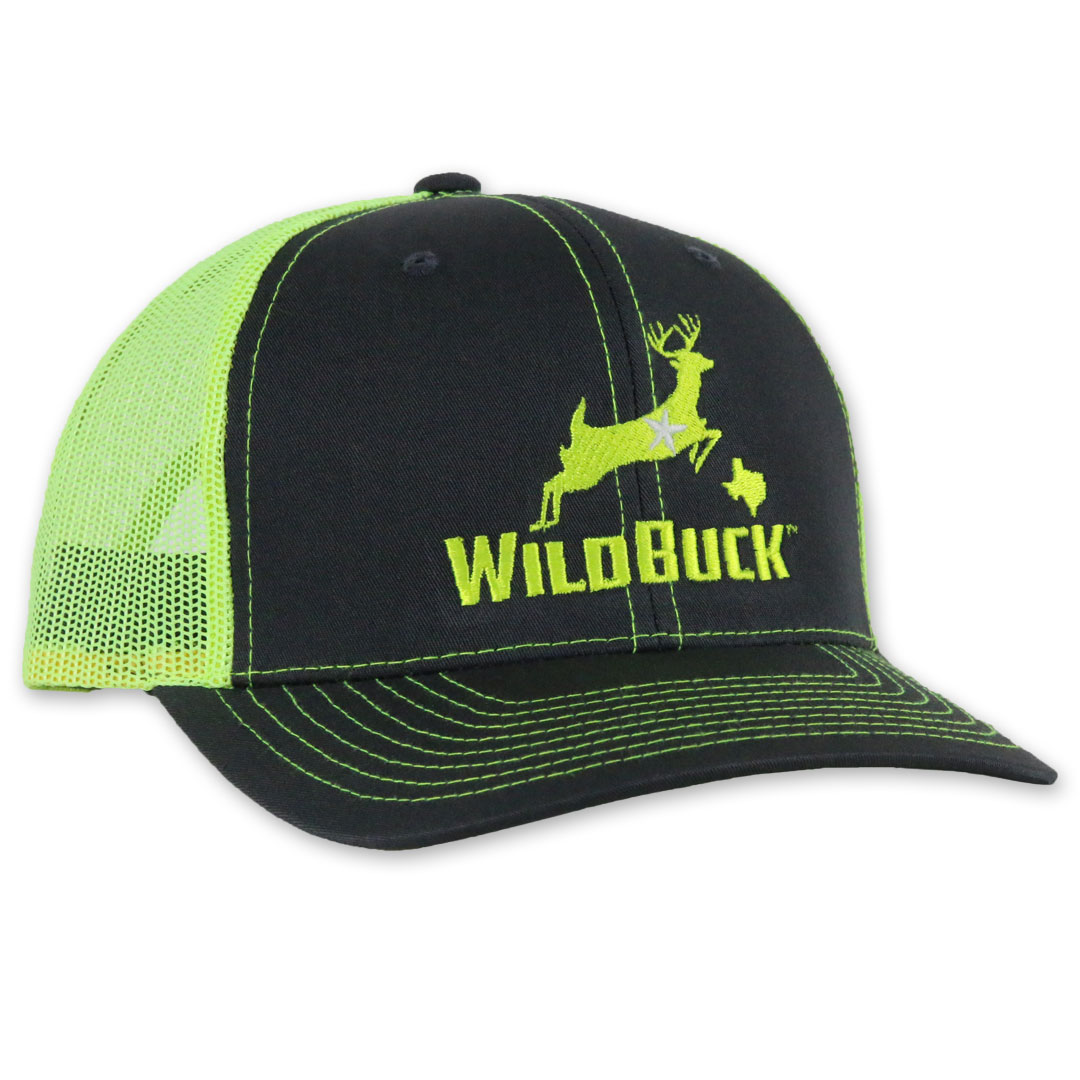 WildBuck Texas Charcoal/Neon Yellow Side
