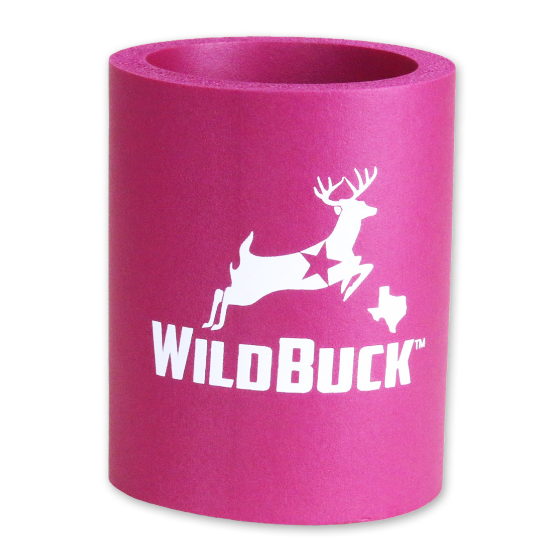 WildBuck Texas Fuchsia Hard Foam Koozie
