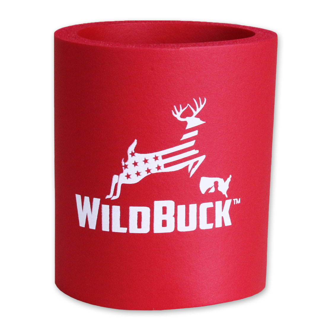 WildBuck USA Red Hard Foam Koozie