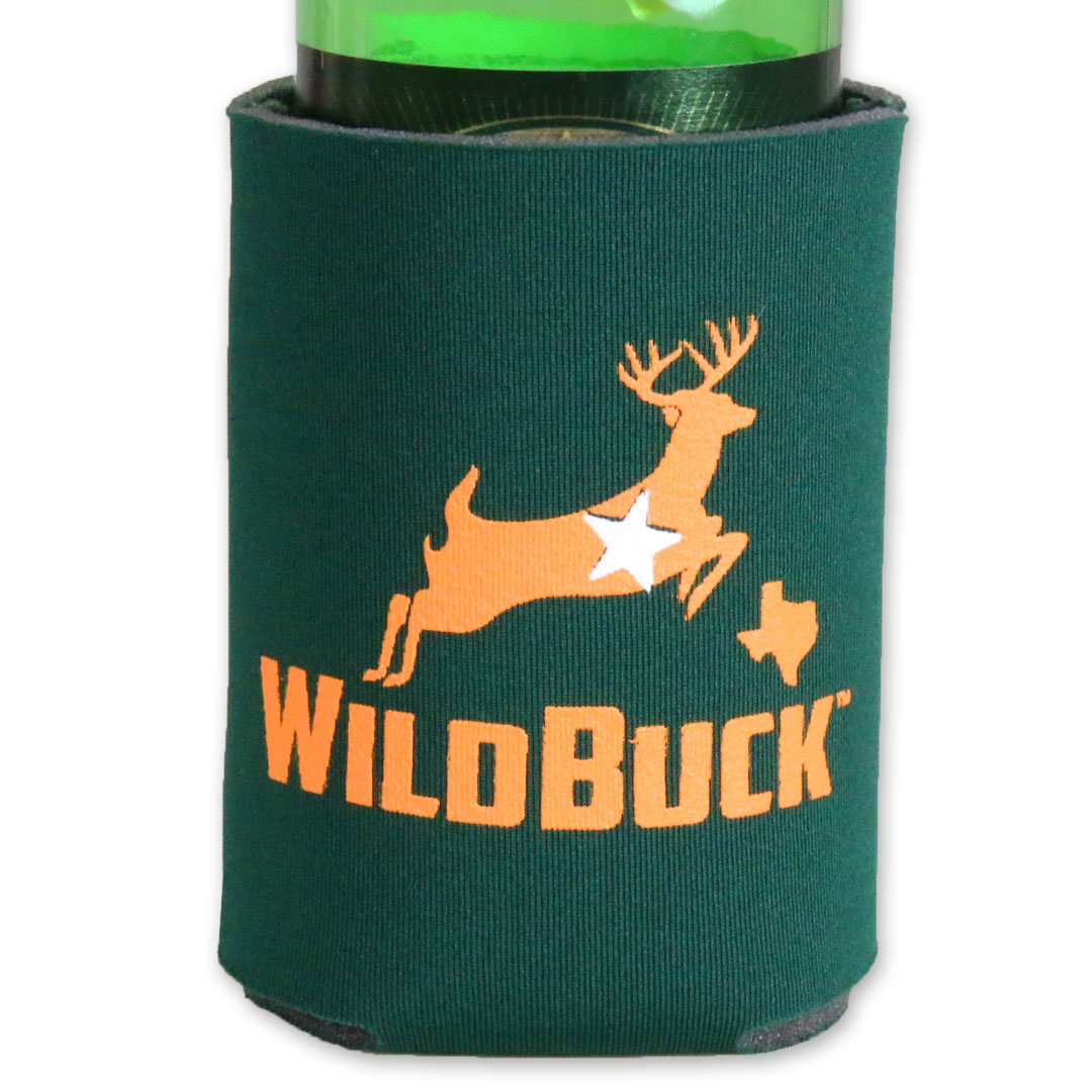 WildBuck Texas Hunter Green Orange Soft Koozie