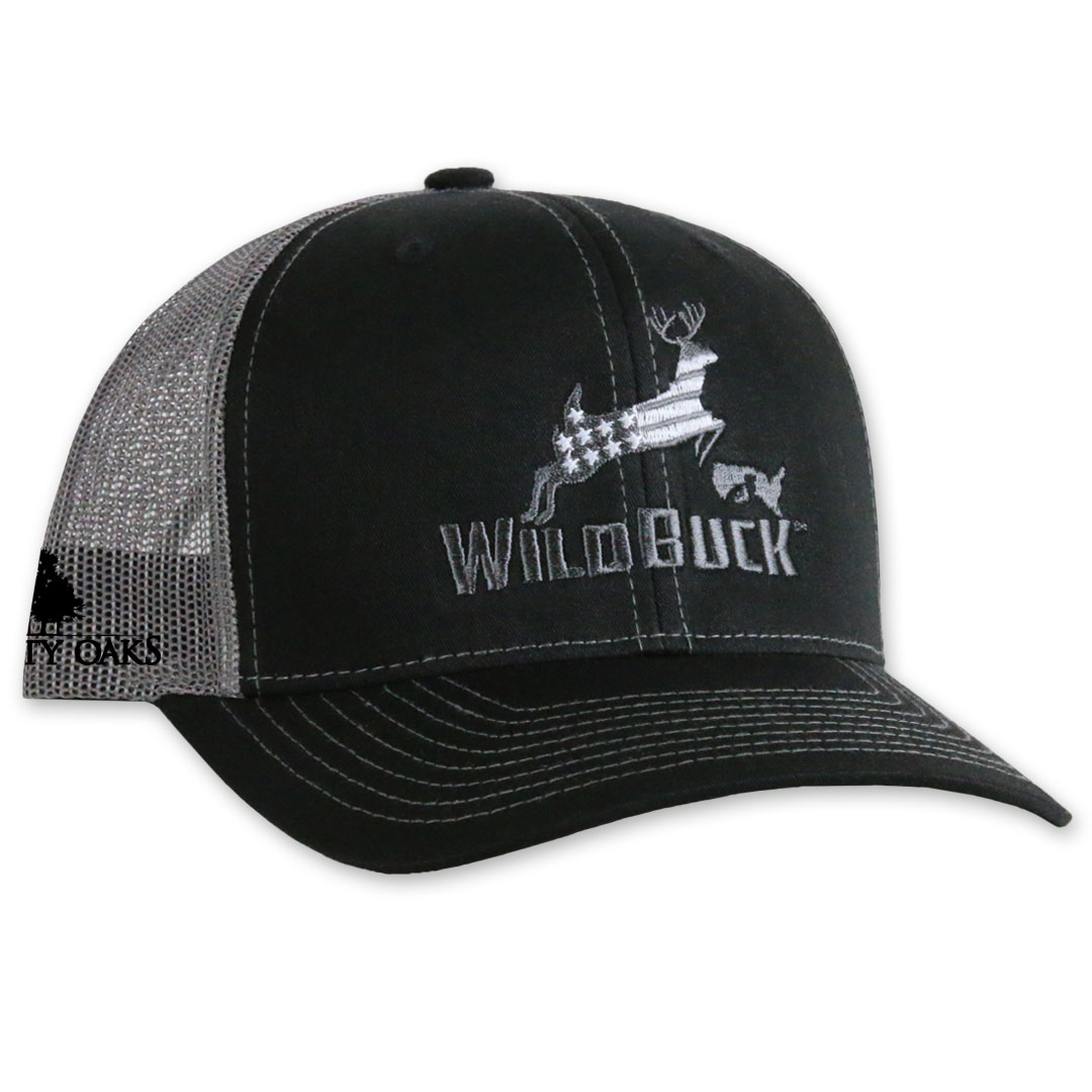 WildBuck USA TO Black/Charcoal Gray Side