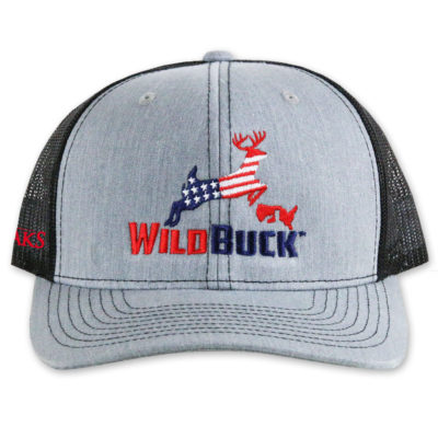 WildBuck USA TO Heather Gray Black Front