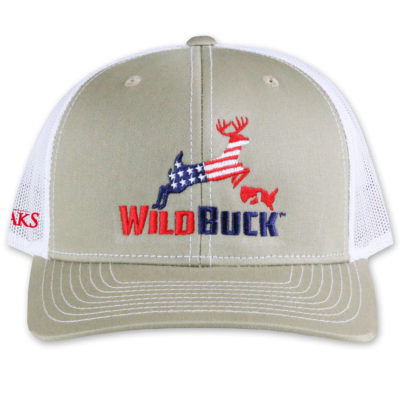 WildBuck USA TO Khaki White Front