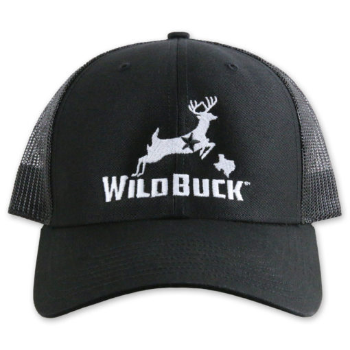 WildBuck Texas Black Front white thread