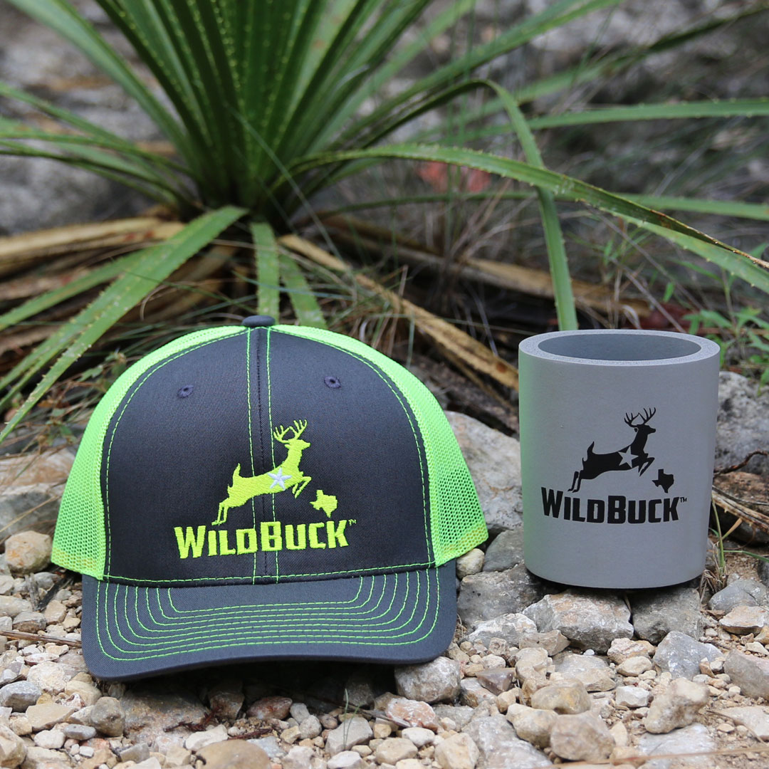 WildBuck Texas Charcoal Neon Yellow Hard Foam Koozie Bundle