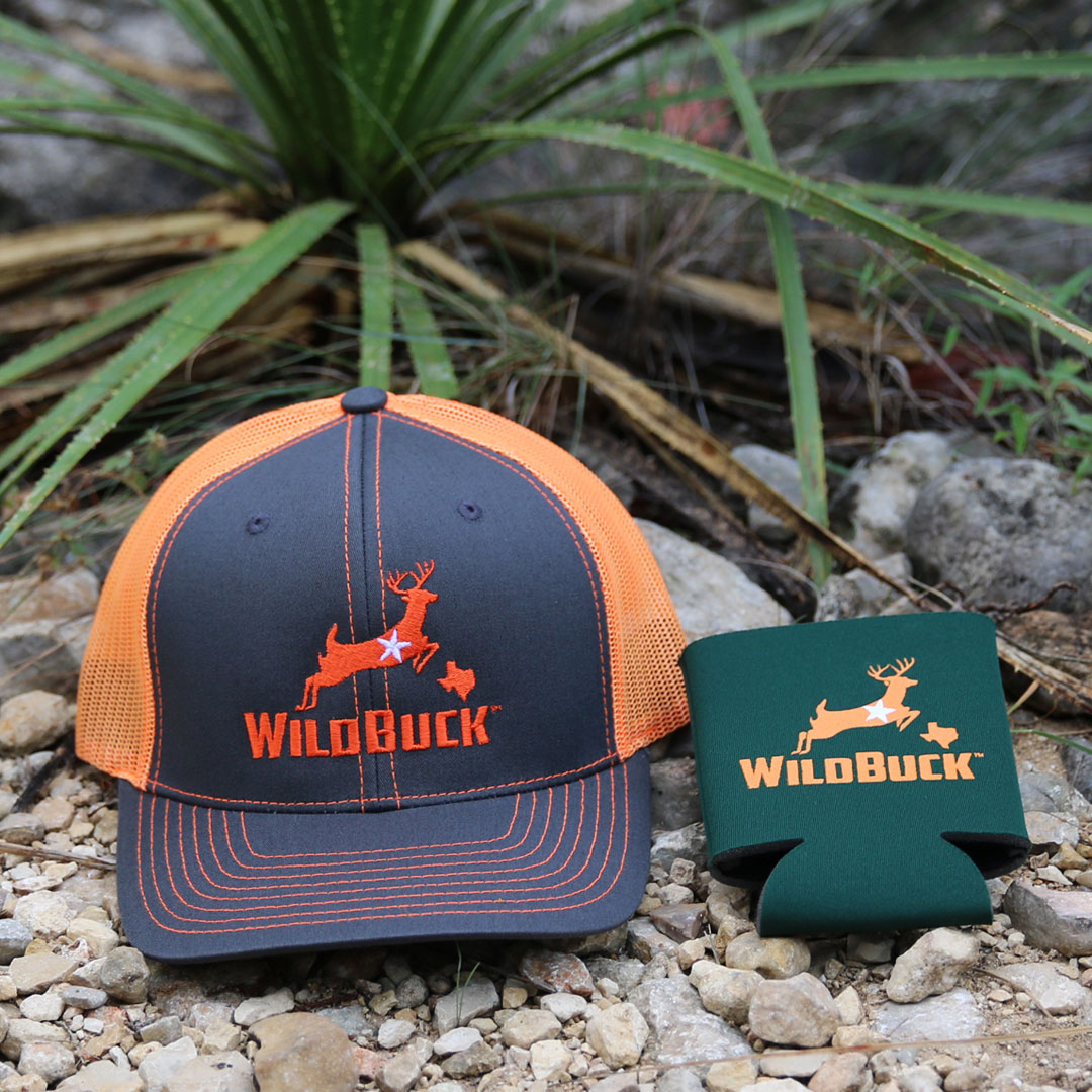WildBuck Texas Charcoal Neon Orange Hunter Green Soft Koozie Bundle