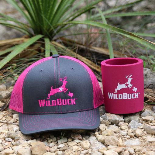 WildBuck Texas Charcoal Neon Pink Hard Foam Koozie Bundle