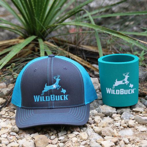 WildBuck Texas Charcoal Turquoise Hard Foam Koozie Bundle