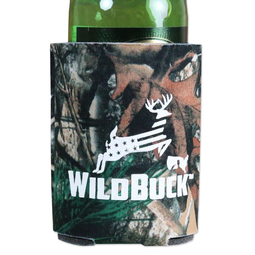 WildBuck Forest Camo USA Soft Koozie