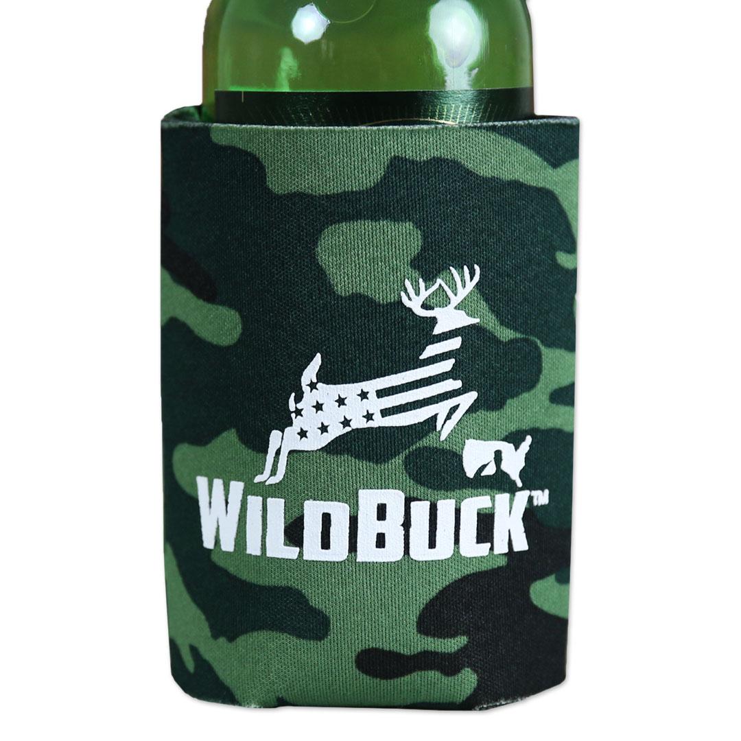 WildBuck Military Camo USA Soft Koozie