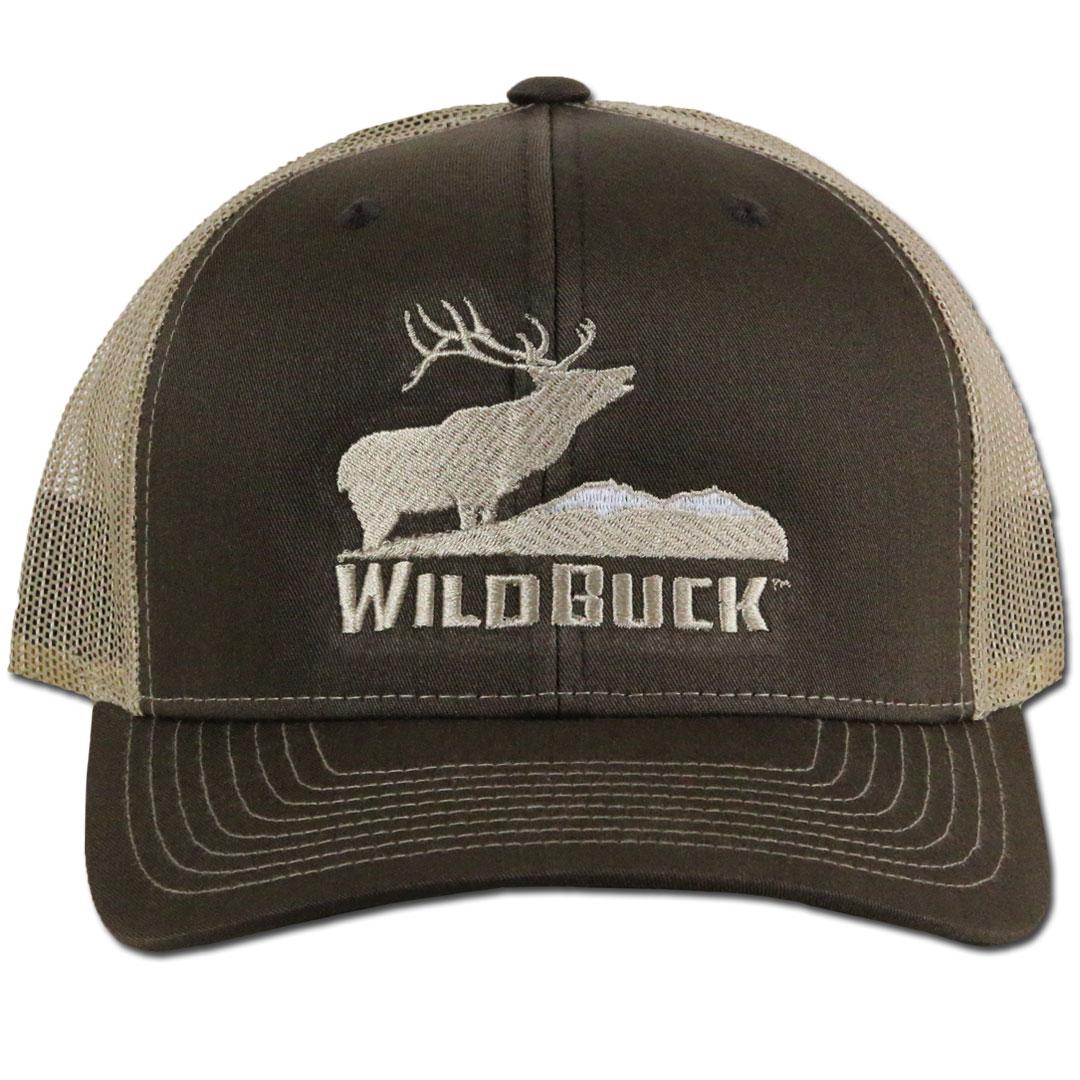 WildBuck Western Wildlife Bugling Elk Chocolate Antler Snapback