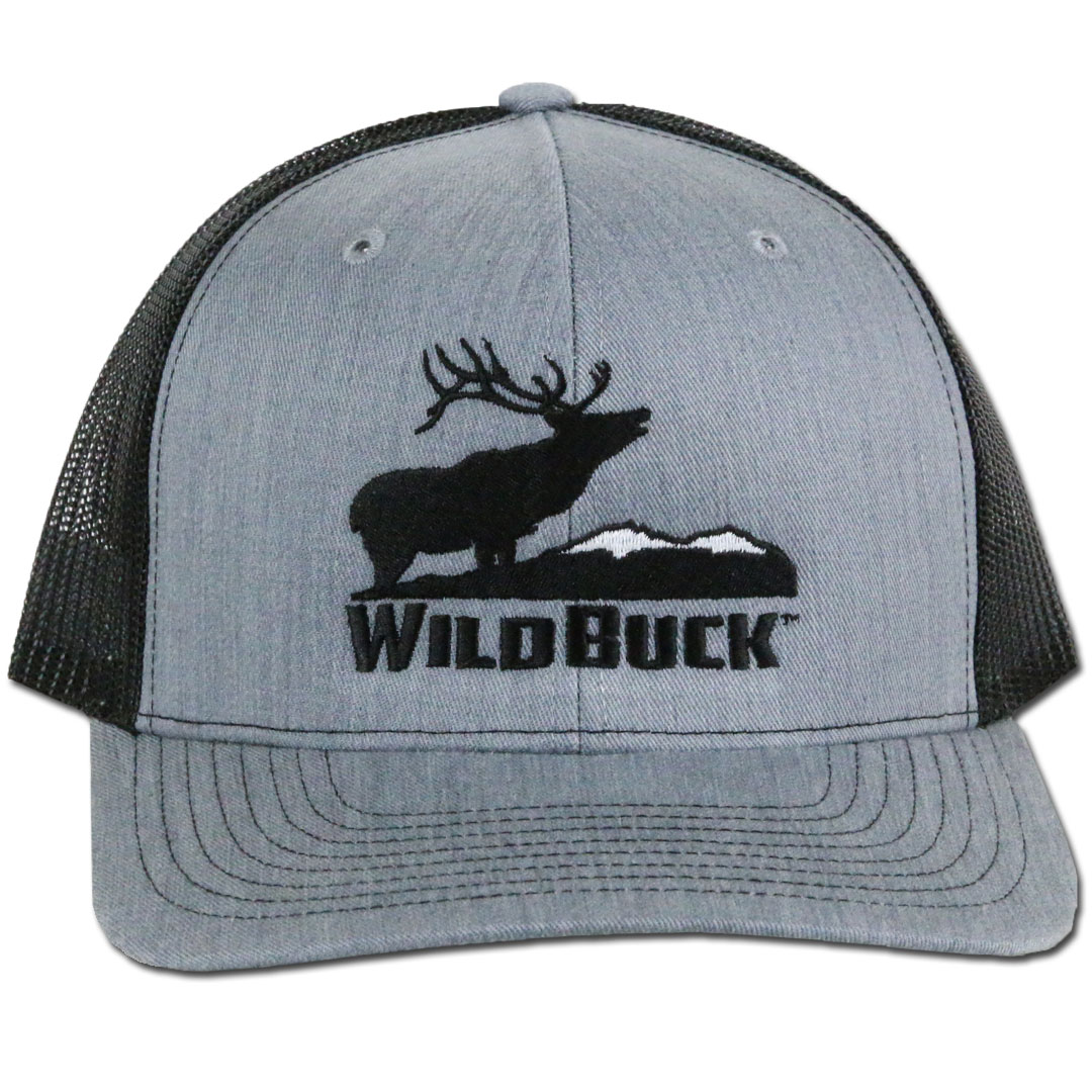 WildBuck Western Wildlife Bugling Elk Heather Gray Snapback