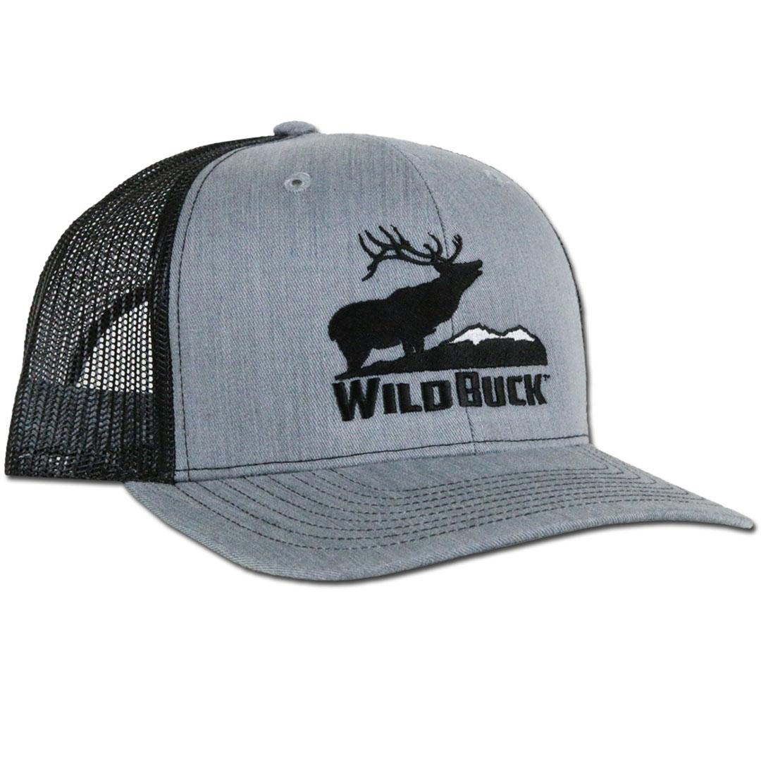 WildBuck Western Wildlife Bugling Elk Heather Gray Snapback Front