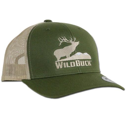 WildBuck Western Wildlife Bugling Elk Sagebrush Snapback