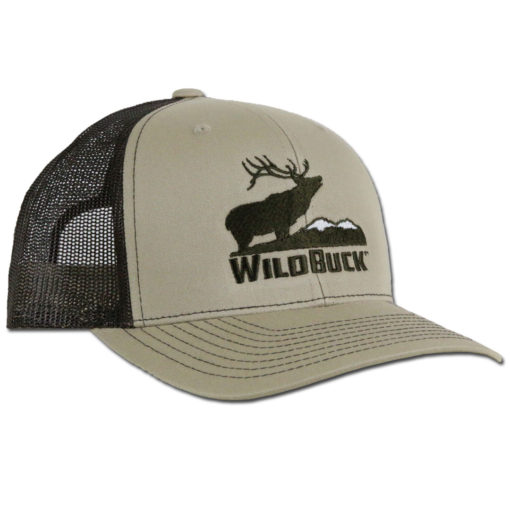 WildBuck Western Wildlife Bugling Elk Wapiti Tan Snapback