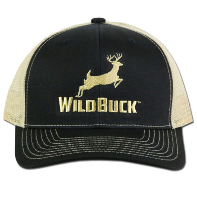WildBuck Original Black/Gold Snapback Front