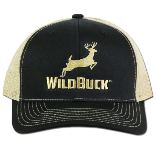WildBuck Original Black/Gold Snapback Front