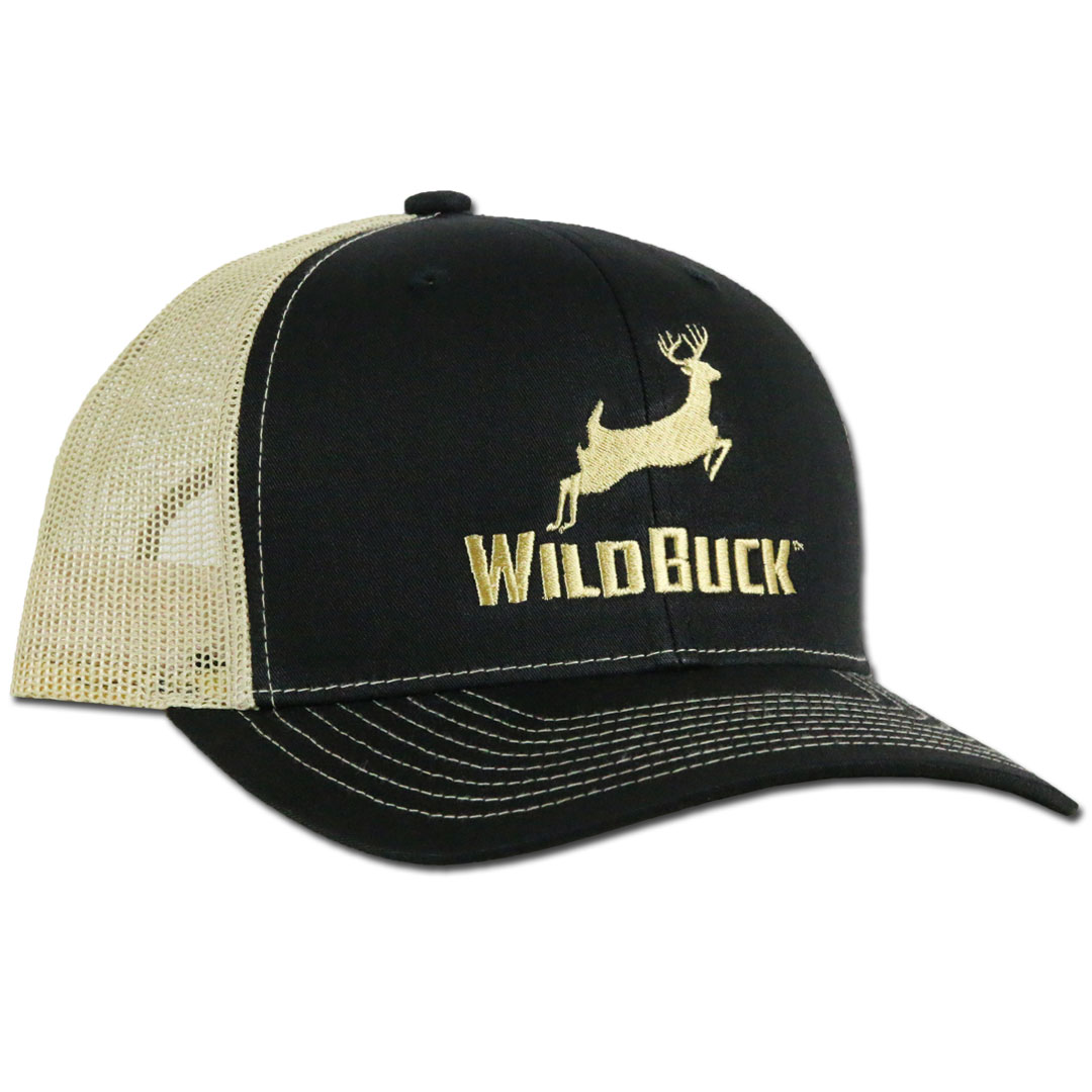 WildBuck Original Black/Gold Snapback Side