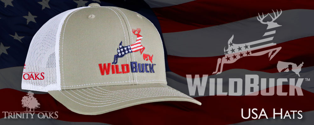 WildBuck USA RWB Hats (Red White Blue)