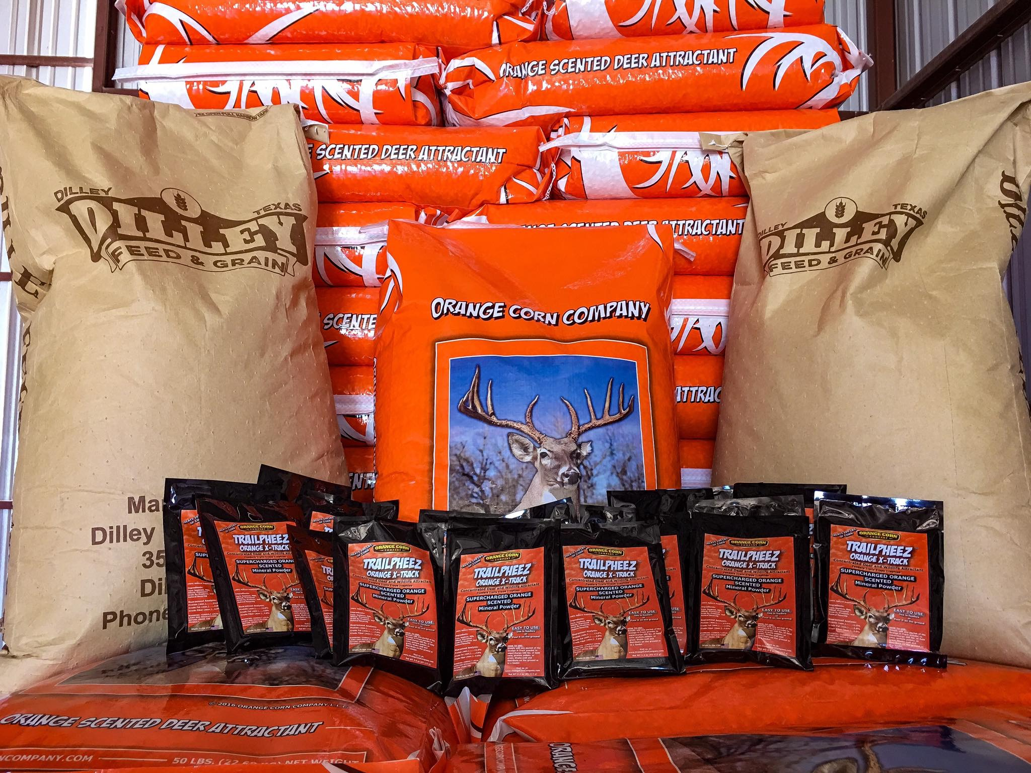 Orange Corn Bags and TRAILPHEEZ Pouches