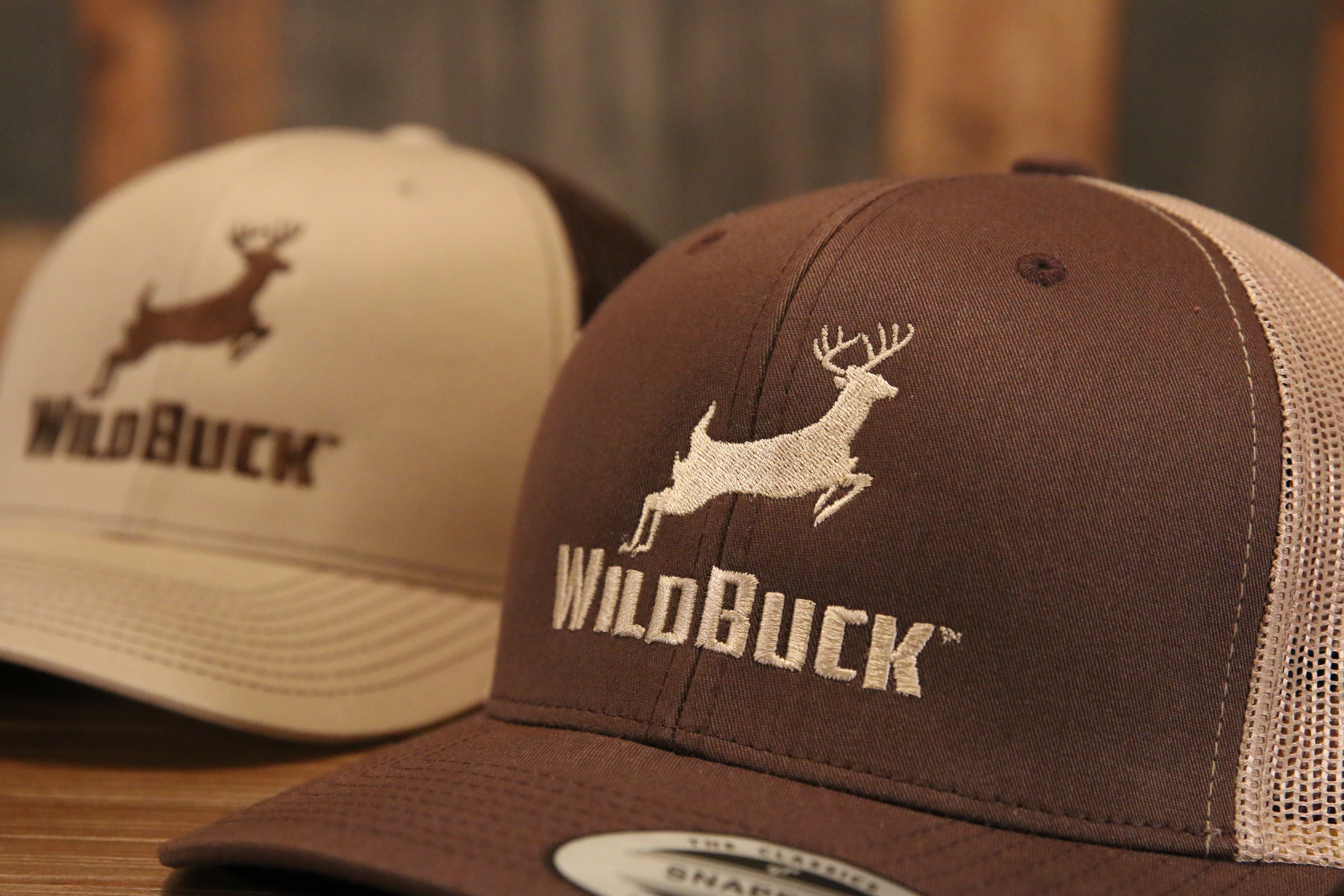 WildBuck Original Chocolate Antler and Buckskin Hats